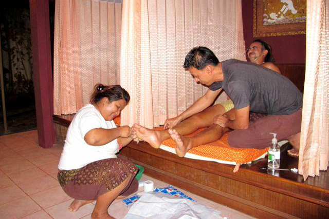 Thai style pedicure