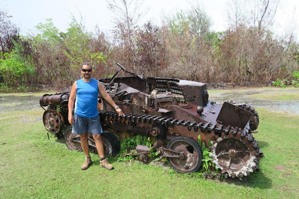 Peleliu war debris, a poignant reminder.