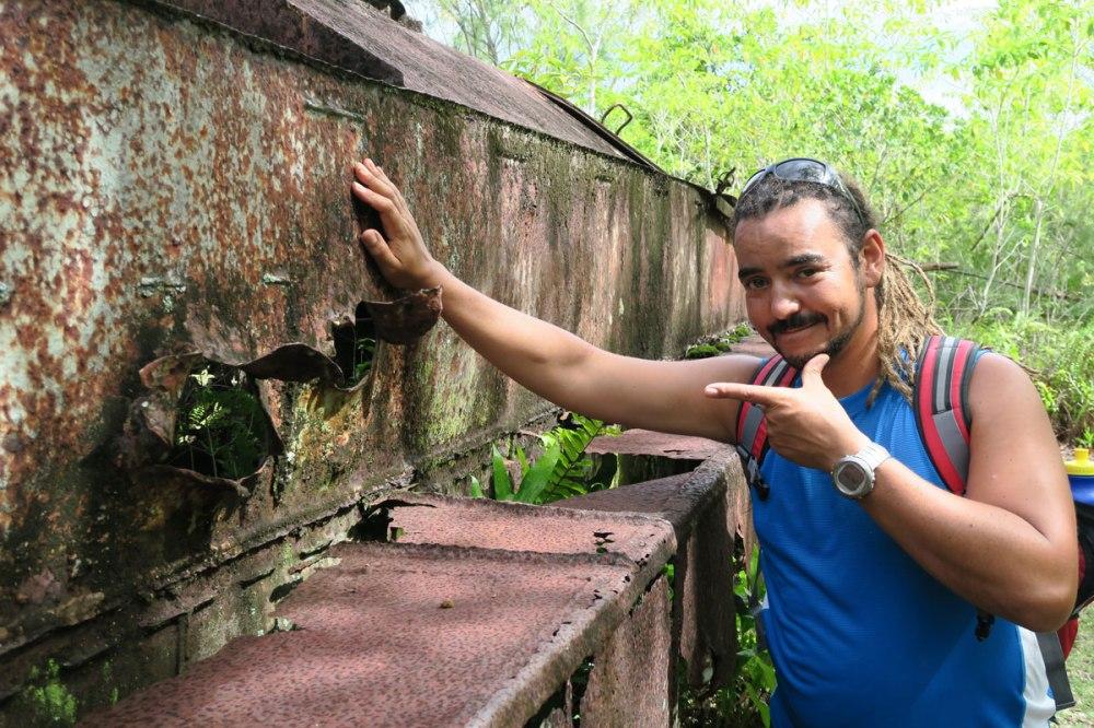 Battlefield Peleliu, Palau.
