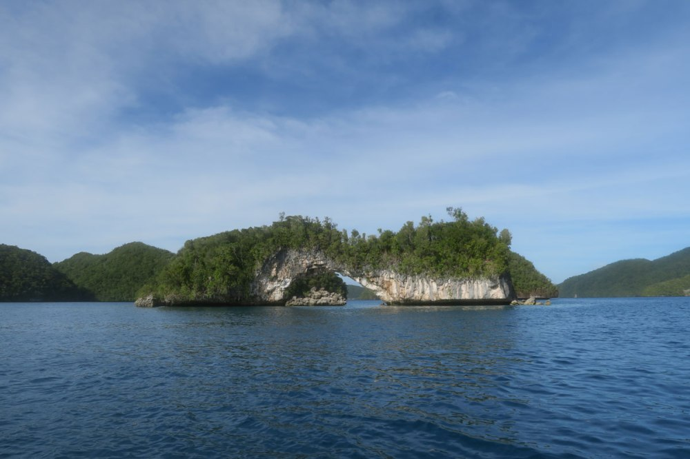 Palau Rock Islands, the arch