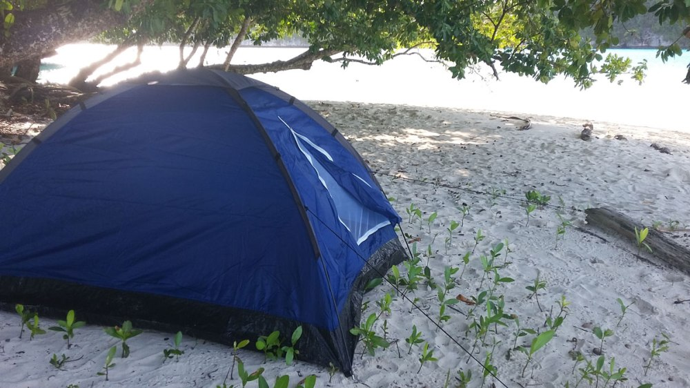 Shelter on the beach