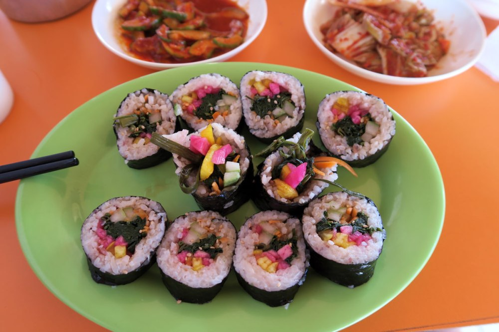 Vegan Korean food in Panglao Philippines.